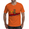 Awesome Funny Sea Otter is Kayaking Mens T-Shirt