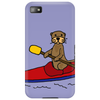 Awesome Funny Sea Otter is Kayaking Phone Case