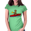 Awesome Funny Sea Otter is Kayaking Womens Fitted T-Shirt