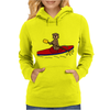Awesome Funny Sea Otter is Kayaking Womens Hoodie
