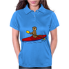Awesome Funny Sea Otter is Kayaking Womens Polo