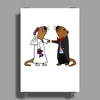 Awesome Funny Sea Otter Wedding Poster Print (Portrait)