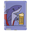 Awesome Funny Shark Drinking Beer Cartoon Tablet
