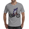 Awesome Funny Shark Riding Bicycle Mens T-Shirt