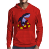 Awesome Funny Shark Tubing Mens Hoodie