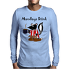 Awesome Funny Skunk Hates Mondays Mens Long Sleeve T-Shirt