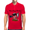 Awesome Funny Skunk Hates Mondays Mens Polo