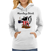Awesome Funny Skunk Hates Mondays Womens Hoodie
