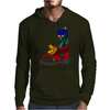 Awesome Funny Snake in Hiking Boot Mens Hoodie