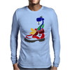 Awesome Funny Snake in Hiking Boot Mens Long Sleeve T-Shirt