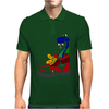 Awesome Funny Snake in Hiking Boot Mens Polo