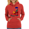 Awesome Funny Snake in Hiking Boot Womens Hoodie