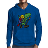 Awesome Funny T-Rex Dinosaur is Hiking Mens Hoodie