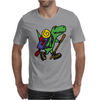 Awesome Funny T-Rex Dinosaur is Hiking Mens T-Shirt