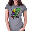 Awesome Funny T-Rex Dinosaur is Hiking Womens Fitted T-Shirt