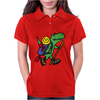 Awesome Funny T-Rex Dinosaur is Hiking Womens Polo