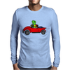Awesome Funny Turtle Driving Red Convertible Car Mens Long Sleeve T-Shirt