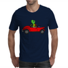 Awesome Funny Turtle Driving Red Convertible Car Mens T-Shirt