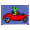 Awesome Funny Turtle Driving Red Convertible Car Tablet