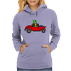 Awesome Funny Turtle Driving Red Convertible Car Womens Hoodie