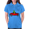 Awesome Funny Turtle Driving Red Convertible Car Womens Polo