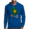 Awesome Funny Turtle Riding Hoverboard Mens Hoodie