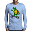 Awesome Funny Turtle Riding Hoverboard Mens Long Sleeve T-Shirt
