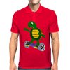 Awesome Funny Turtle Riding Hoverboard Mens Polo