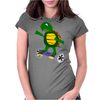 Awesome Funny Turtle Riding Hoverboard Womens Fitted T-Shirt