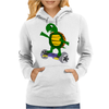 Awesome Funny Turtle Riding Hoverboard Womens Hoodie