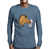 Awesome Funny Warthog Drinking from Toilet Bowl Mens Long Sleeve T-Shirt