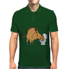 Awesome Funny Warthog Drinking from Toilet Bowl Mens Polo