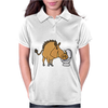 Awesome Funny Warthog Drinking from Toilet Bowl Womens Polo