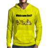Awesome Funny Which Came First Chicken or Egg Cartoon Mens Hoodie