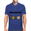 Awesome Funny Which Came First Chicken or Egg Cartoon Mens Polo
