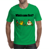 Awesome Funny Which Came First Chicken or Egg Cartoon Mens T-Shirt