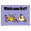 Awesome Funny Which Came First Chicken or Egg Cartoon Tablet