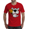 Awesome Funny White Dog Holding Sunflower Mens T-Shirt