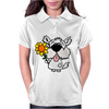 Awesome Funny White Dog Holding Sunflower Womens Polo