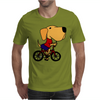 Awesome Funny Yellow Labrador Dog Riding Bicycle Mens T-Shirt