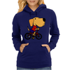 Awesome Funny Yellow Labrador Dog Riding Bicycle Womens Hoodie