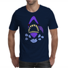 Awesome Gaping Shark Jaws Beach Abstract Mens T-Shirt