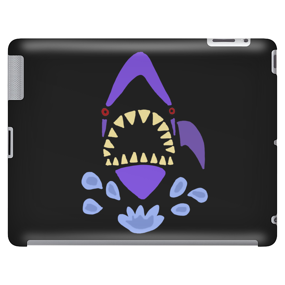 Awesome Gaping Shark Jaws Beach Abstract Tablet