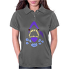 Awesome Gaping Shark Jaws Beach Abstract Womens Polo