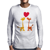 Awesome Giraffes in Love Original Art Mens Long Sleeve T-Shirt