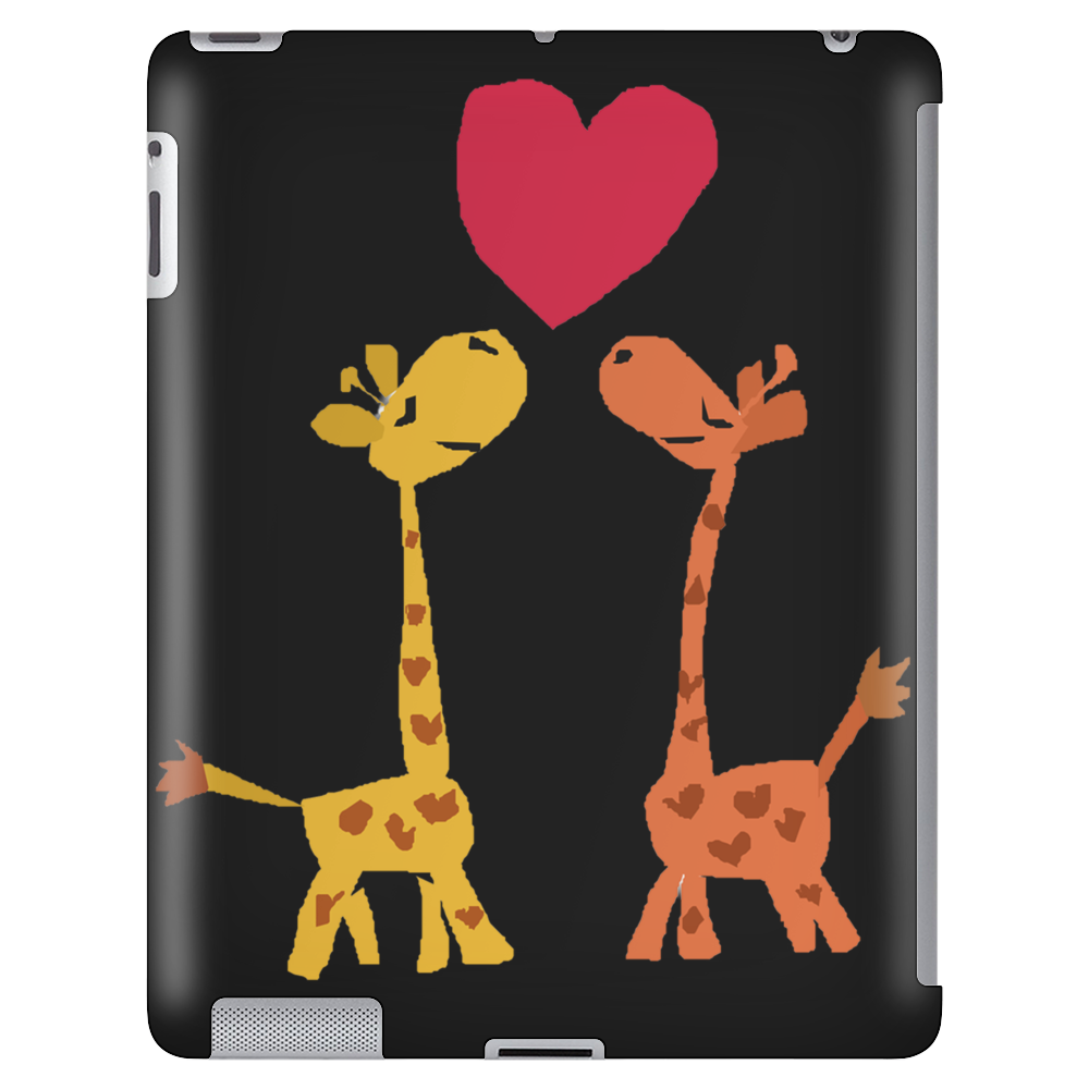 Awesome Giraffes in Love Original Art Tablet