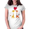 Awesome Giraffes in Love Original Art Womens Fitted T-Shirt