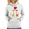 Awesome Giraffes in Love Original Art Womens Hoodie