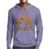 Awesome Giraffes with Heart Spots Art Original Mens Hoodie