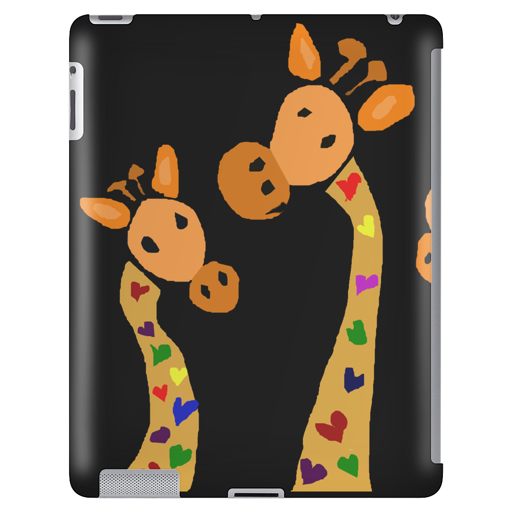 Awesome Giraffes with Heart Spots Art Original Tablet